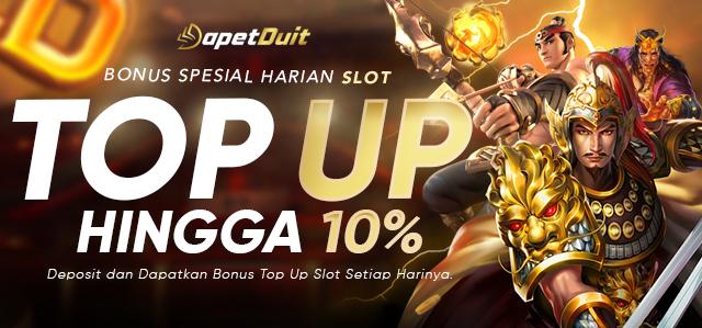 Bonus Top Up Harian Slots 10%